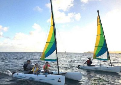 sailing hobie wave at styc