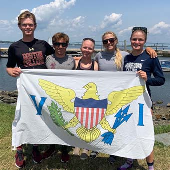 college sailing team from st thomas