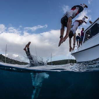 swimming at st thomas yacht club
