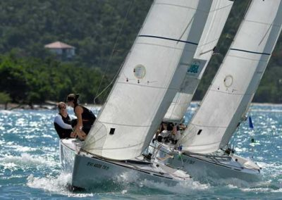 match race in st Thomas harbor
