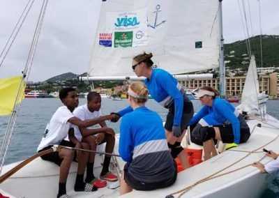 st Thomas yacht club match race in st Thomas harbor