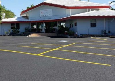 st thomas yacht club freshly painted parking lot
