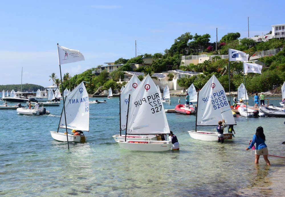 OPTI regatta race launch